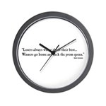 """""""Losers Always Whine"""" Wall Clock"""