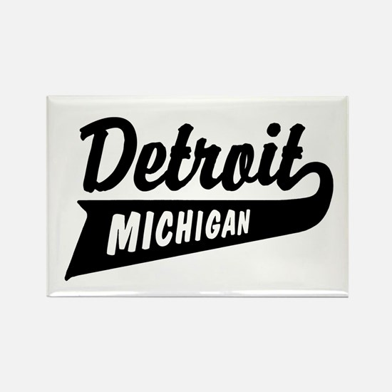 Detroit Michigan Rectangle Magnet