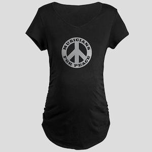 Musicians For Peace Maternity Dark T-Shirt
