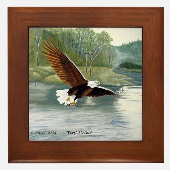 American Bald Eagle Flight Framed Tile