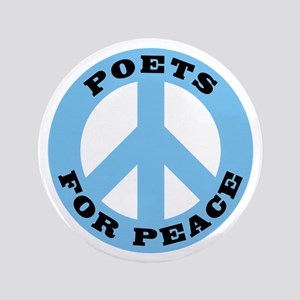 """Poets For Peace 3.5"""" Button"""