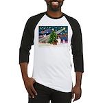XmasMagic/Sheltie (7R) Baseball Jersey