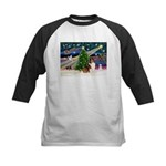 XmasMagic/Sheltie (7R) Kids Baseball Jersey