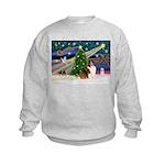 XmasMagic/Sheltie (7R) Kids Sweatshirt