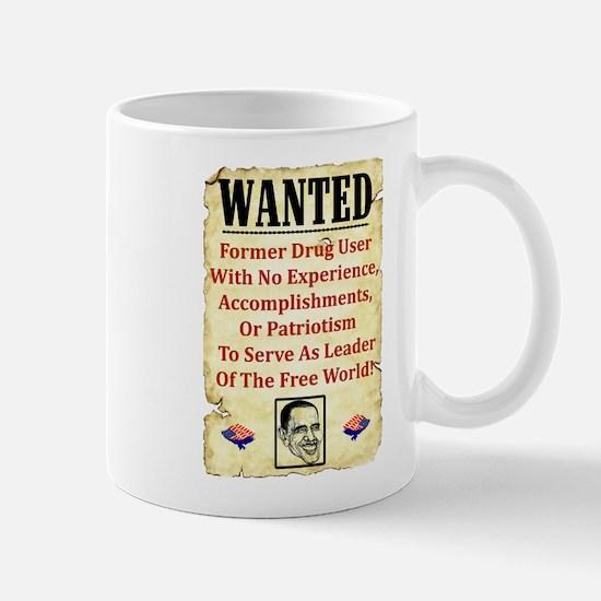 """""""Wanted: Barack Obama"""" Mug"""