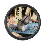 Lunchtime for Squirrel Large Wall Clock