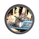 Lunchtime for Squirrel Wall Clock