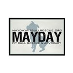 Mayday Pit Bull Rescue & Advo Rectangle Magnet