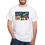 XmasMagic/3 Shelites (s) White T-Shirt