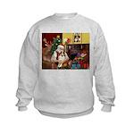 Santa's Sheltie (SW) Kids Sweatshirt