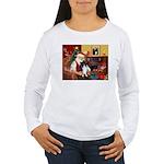 Santa's Bi Black Sheltie Women's Long Sleeve T-Shi