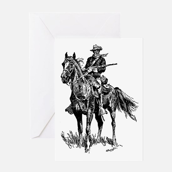 Old Bill Cavalry Mascot Greeting Card