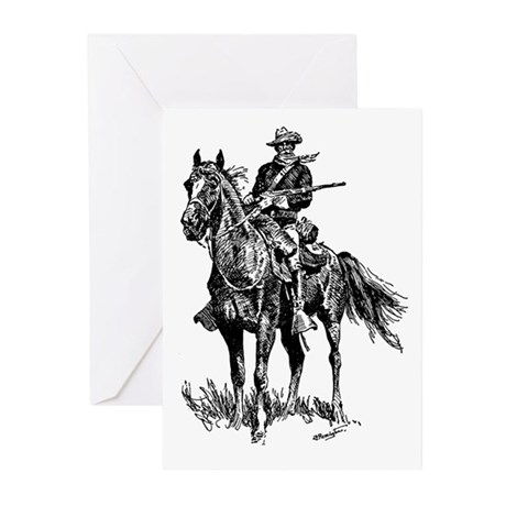 Old Bill Cavalry Mascot Greeting Cards (Pk of 20)