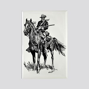 Old Bill Cavalry Mascot Rectangle Magnet