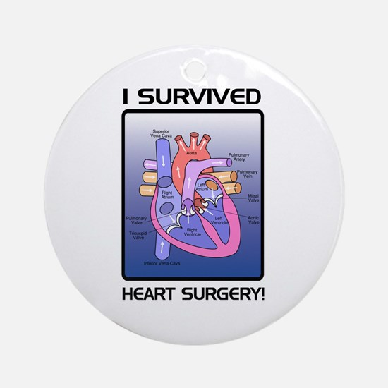 I Survived Heart Surgery! 2 Ornament (Round)