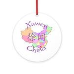 Xuwen China Map Ornament (Round)