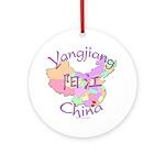 Yangjiang China Map Ornament (Round)