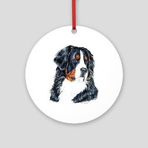 Bernese Mountain Dog Portrait Ornament (Round)