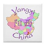 Yangxi China Map Tile Coaster