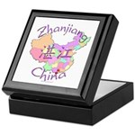 Zhanjiang China Map Keepsake Box