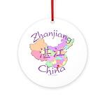 Zhanjiang China Map Ornament (Round)