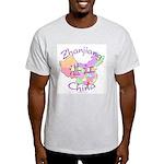 Zhanjiang China Map Light T-Shirt