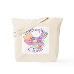 Zhaoqing China Map Tote Bag