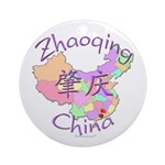 Zhaoqing China Map Ornament (Round)