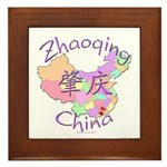 Zhaoqing China Map Framed Tile