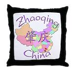 Zhaoqing China Map Throw Pillow