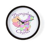 Zhongshan China Map Wall Clock