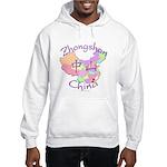 Zhongshan China Map Hooded Sweatshirt