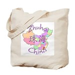 Zhuhai China Map Tote Bag