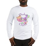Zhuhai China Map Long Sleeve T-Shirt