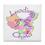 Luoding China Map Tile Coaster