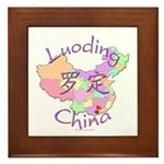 Luoding China Map Framed Tile