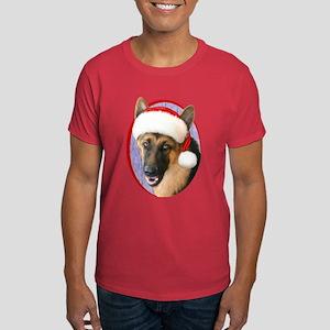 German Shepherd Santa Dark T-Shirt