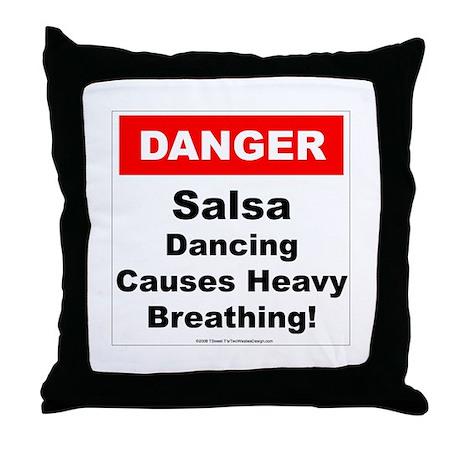 Danger Salsa Throw Pillow