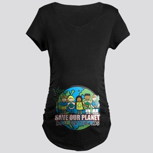 Save Our Planet Maternity Dark T-Shirt
