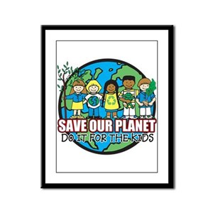Save Our Planet Framed Panel Print