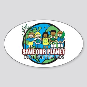 Save Our Planet Sticker (Oval)