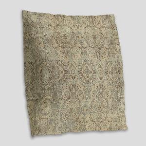 Persian Tabriz Burlap Throw Pillow
