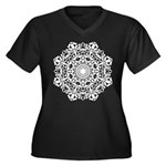 Check Out Women's Plus Size V-Neck Dark T-Shirt