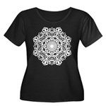 Check Out Women's Plus Size Scoop Neck Dark T-Shir