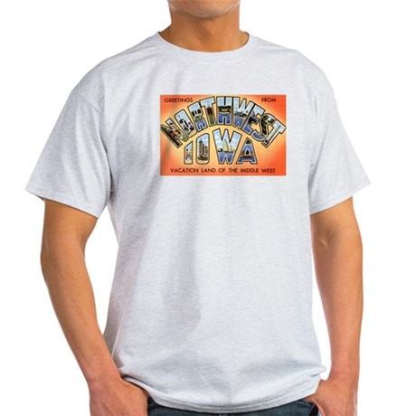 Northwest Iowa Greetings (Front) Light T-Shirt