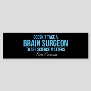 Ben Carson Science Matters Sticker (Bumper)