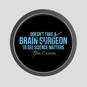 Ben Carson Science Matters Wall Clock