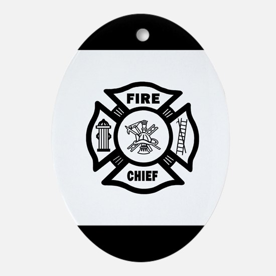 Fire Chief Ornament (Oval)