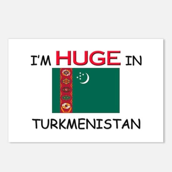 I'd HUGE In TURKMENISTAN Postcards (Package of 8)
