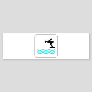 Diving Icon Bumper Sticker